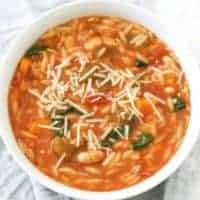 Italian Vegetable Orzo Soup