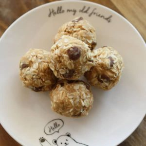 No Bake Peanut Butter Oatmeal Protein Bites