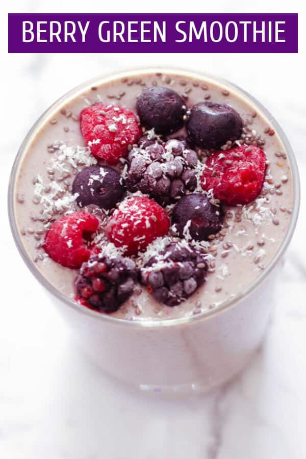 Berry Green Smoothie Pinterest Image