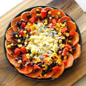 vegetarian sweet potato nachos