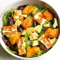 Pumpkin, Halloumi and Avocado Salad