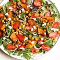 Roasted Pumpkin and Chickpea Salad
