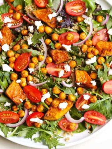 roast pumpkin and chickpea salad