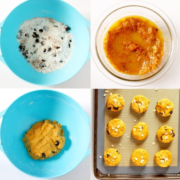 step by step photos explaining how to make healthy pumpkin scones