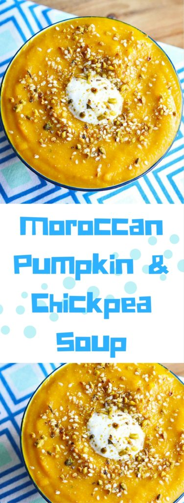 moroccan pumpkin and chickpea soup