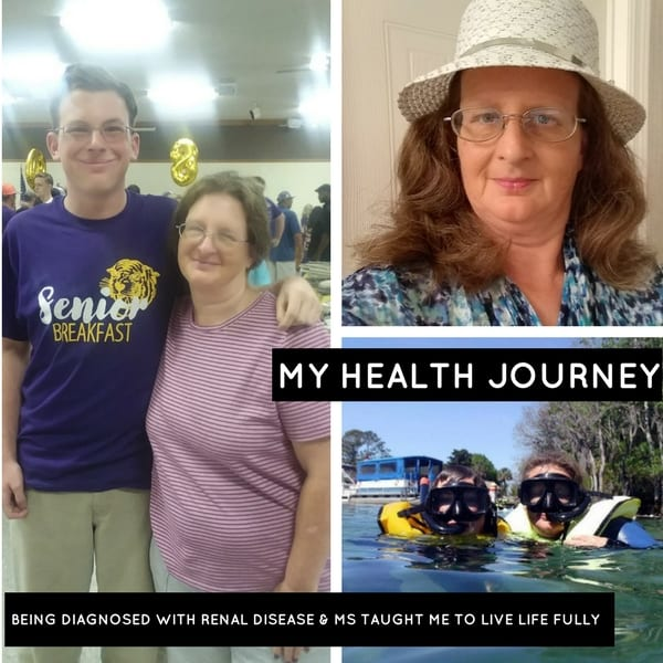 being diagnosed with renal disease and ms