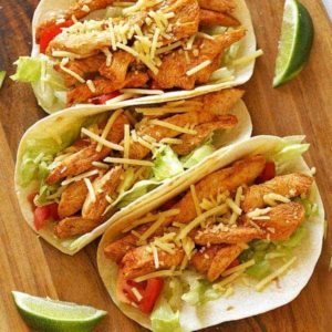 Healthy chicken tacos