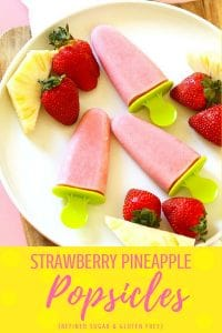 Strawberry Pineapple Popsicles