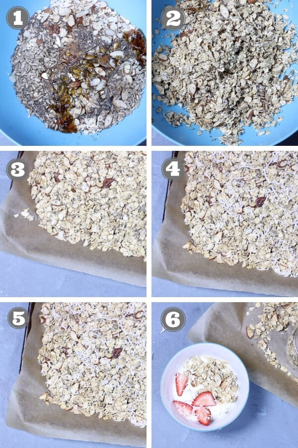 step by step photos on how to make healthy homemade granola