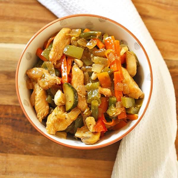 chicken cashew stir fry