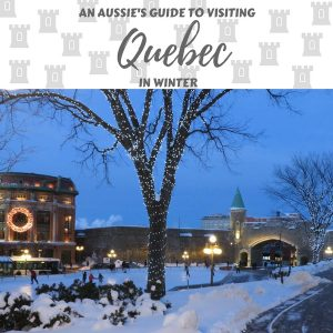 visting quebec in winter