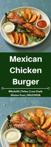 mexican chicken burger