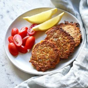 carrot and zucchini fritters