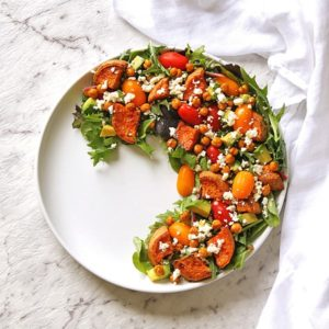 sweet potato, chickpea and feta salad