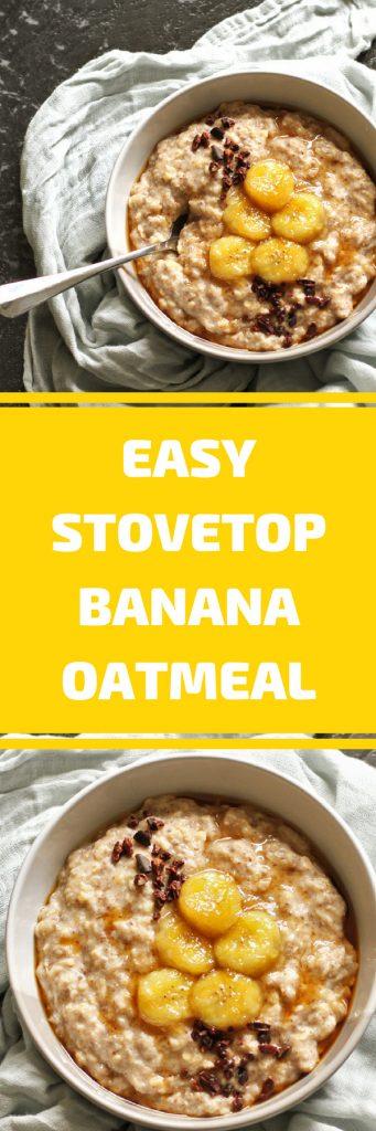 easy stovetop banana oatmeal