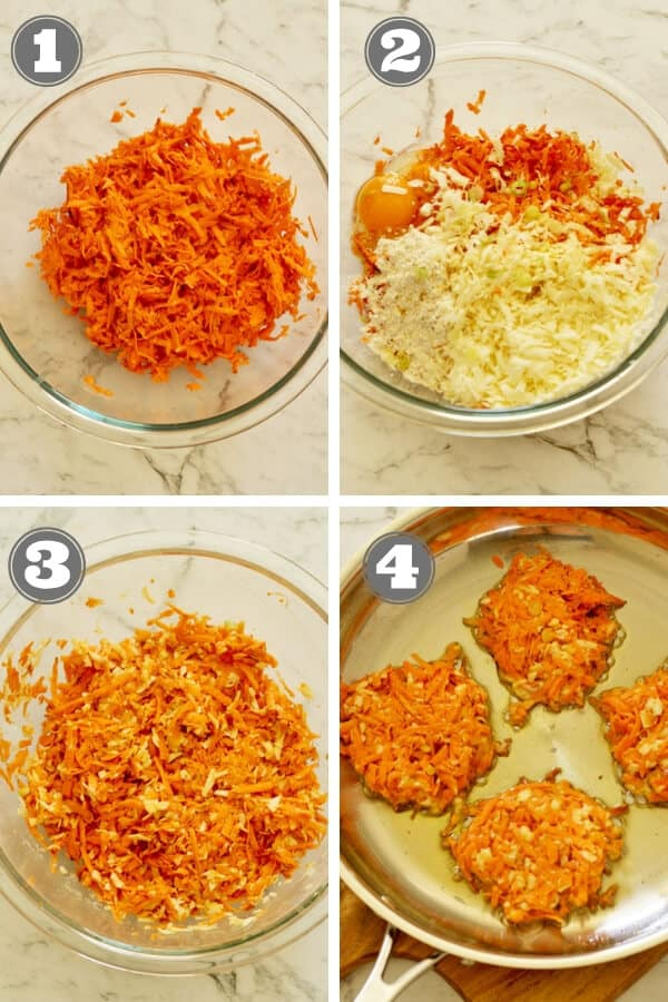 step by step photos for how to make sweet potato rosti