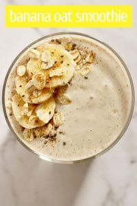 banana oat smoothie pinterest image