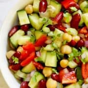middle eastern bean salad pinterest image