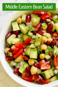 middle eastern bean salad pinterest image