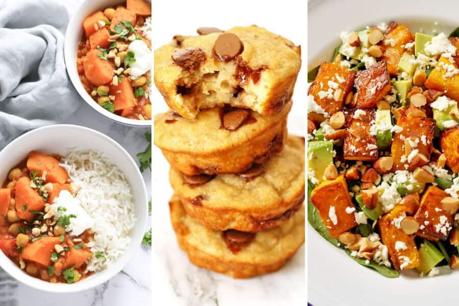 a collage of 3 popular recipes shots side by side
