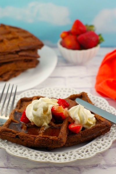 Belgian Chocolate Waffles - Food Meanderings