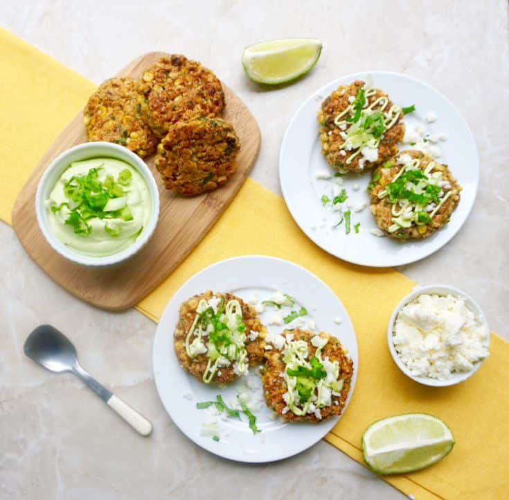 Mexican Street Corn Fritters are fresh, flavorful and easy.