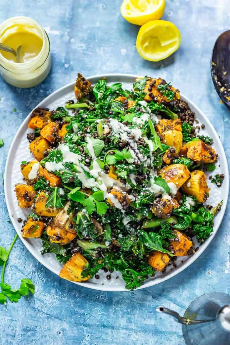 Sweet Potato & Quinoa Salad with Sesame Dressing • The Cook Report