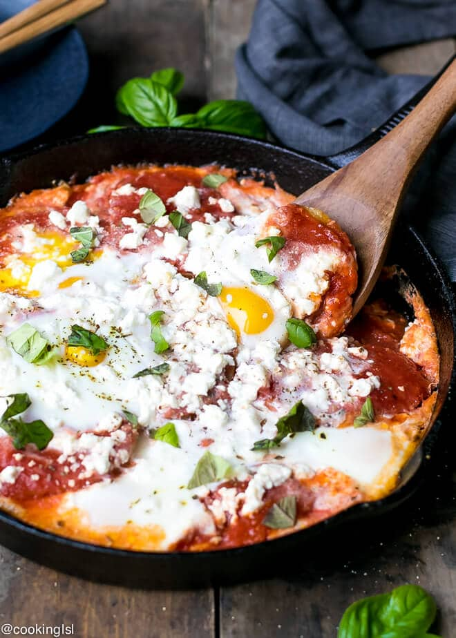 Potatoes With Tomato Sauce Feta And Eggs Recipe