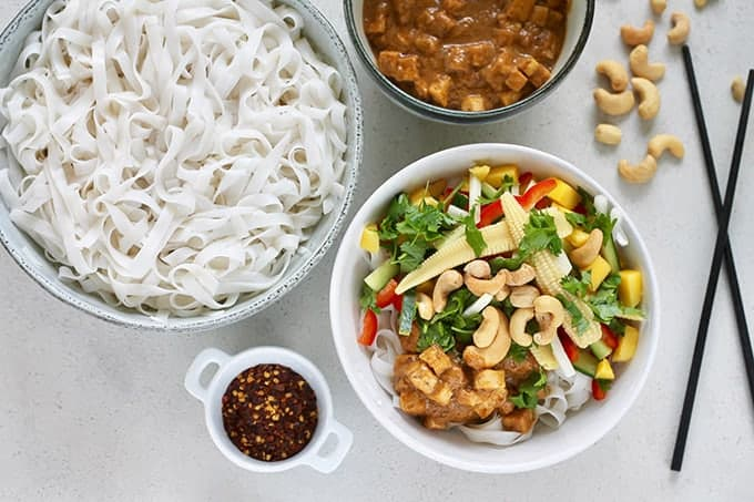 Vegan Rice Noodle Bowl