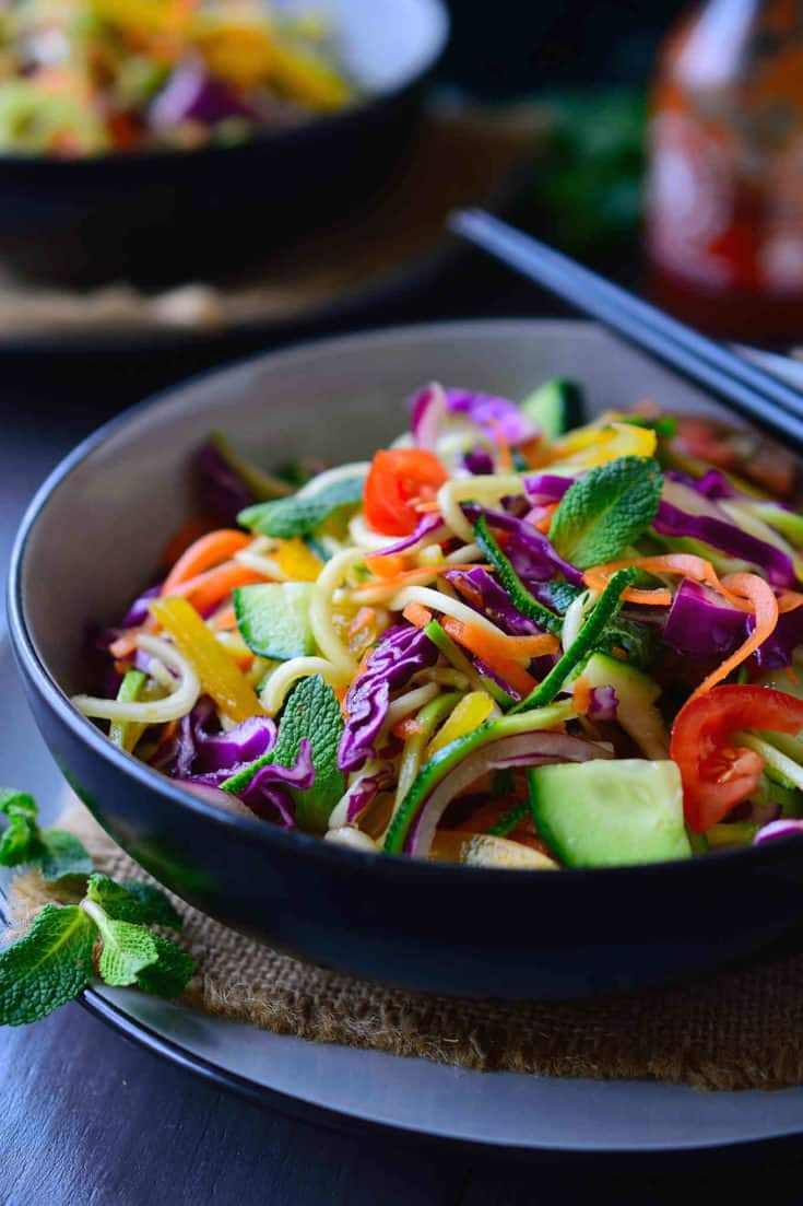 Raw Vegan Noodles Salad