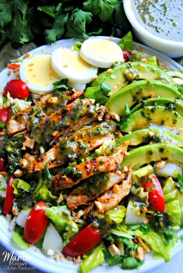 Grilled Chicken Chimichurri Salad {Gluten-free, Paleo, Nightshade Free}