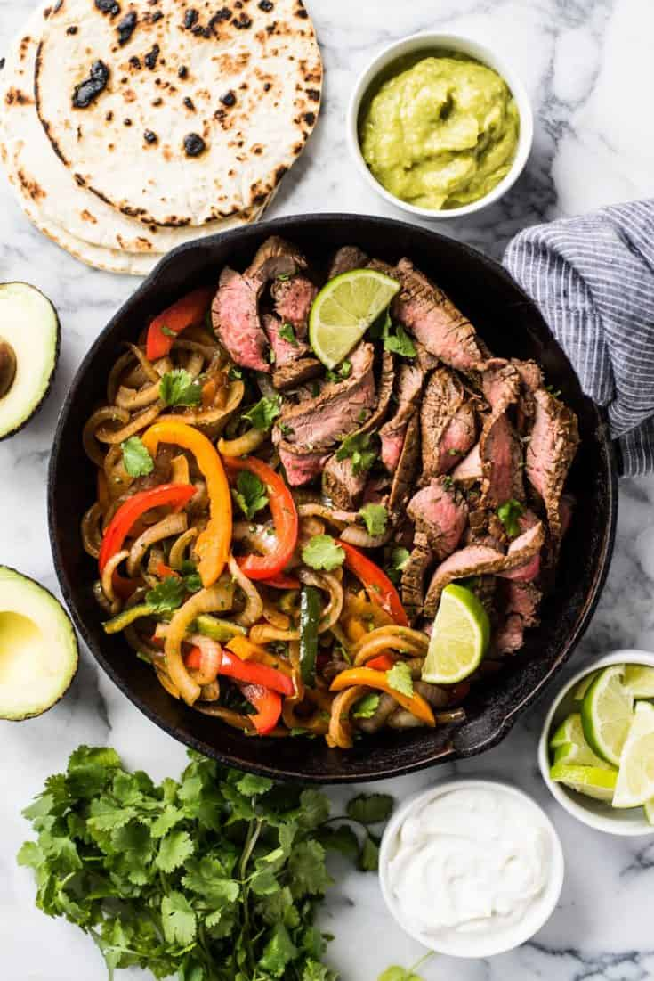 Easy Steak Fajitas - Isabel Eats {Mexican Inspired Recipes}