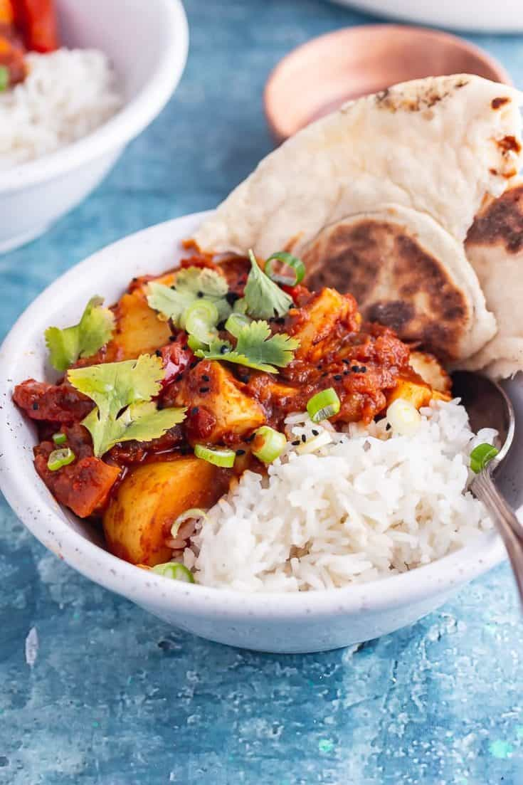 Spicy Halloumi Curry with Potato • The Cook Report