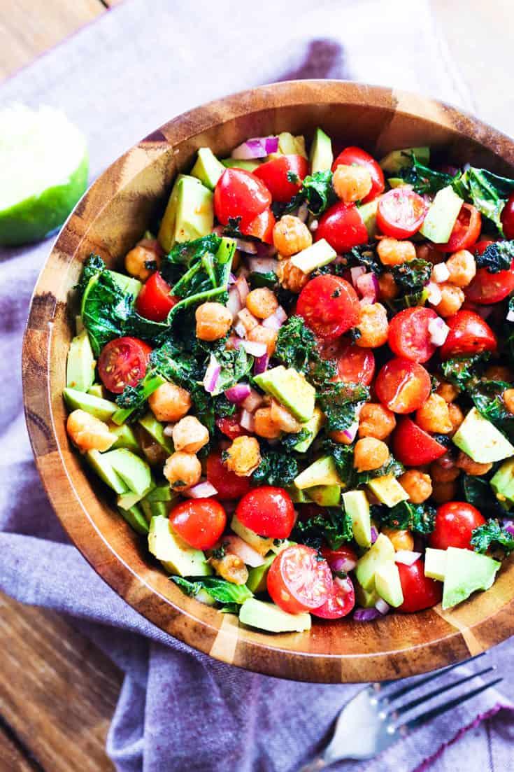 Crispy Kale and Garbanzo Bean Salad Recipe