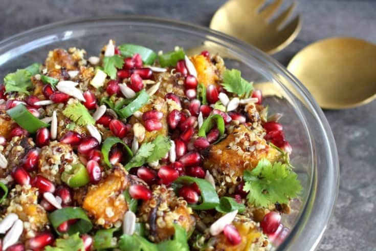 Moroccan Spiced Roasted Pumpkin Quinoa Salad