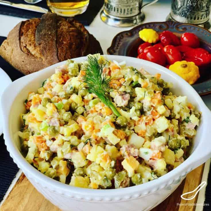 Olivier Salad - Russian Salad Recipe