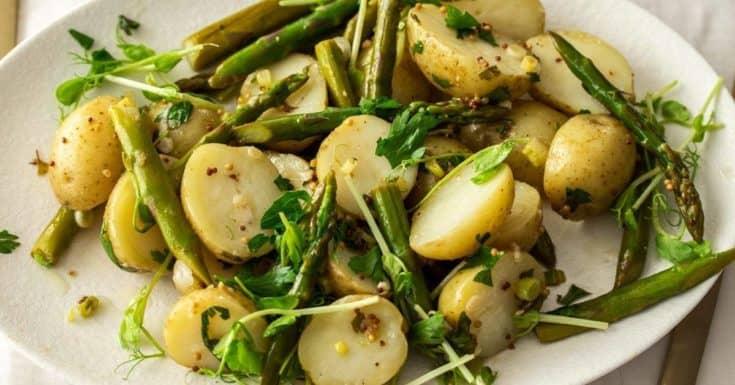 Warm Potato Asparagus Salad
