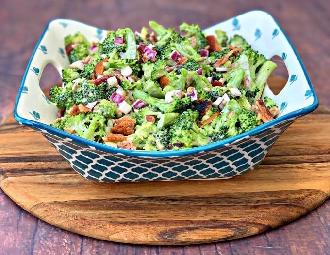 Easy, Keto Low-Carb Broccoli Salad with Bacon