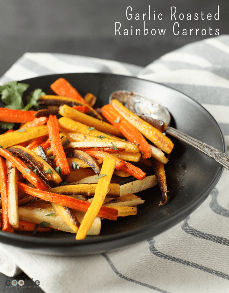 Garlic Roasted Rainbow Carrots (Paleo & Vegan)