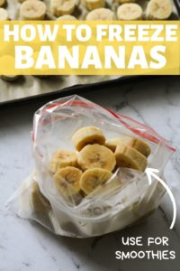 banana slices in a ziplock bag.