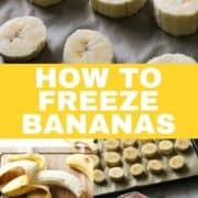 photo instructions on how to freeze bananas.