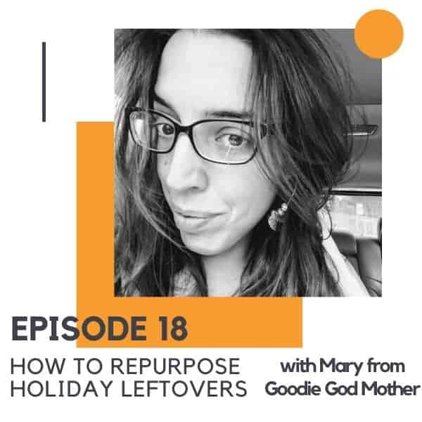 "Picture of a brunette woman with text overlay ""How to Repurpose Holiday Leftovers""."