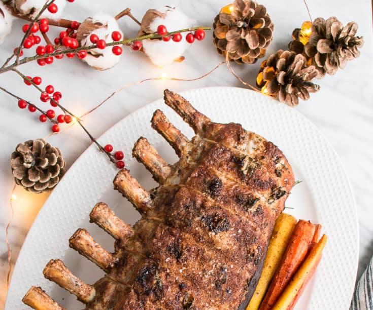 Holiday Rosemary Garlic Pork Roast