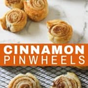 cinnamon pinwheels on a white marble background.