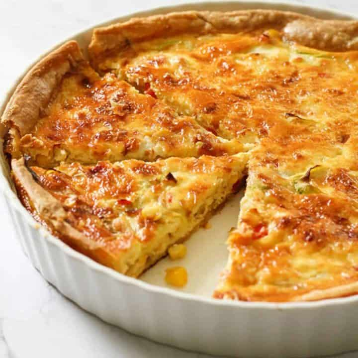 Vegetarian Quiche Recipe Vegetable Quiche Cook It Real Good