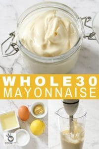 mayonnaise in a glass jar.