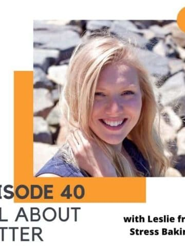 "headshot of a blonde woman with text overlay ""episode 40 - all about butter""."