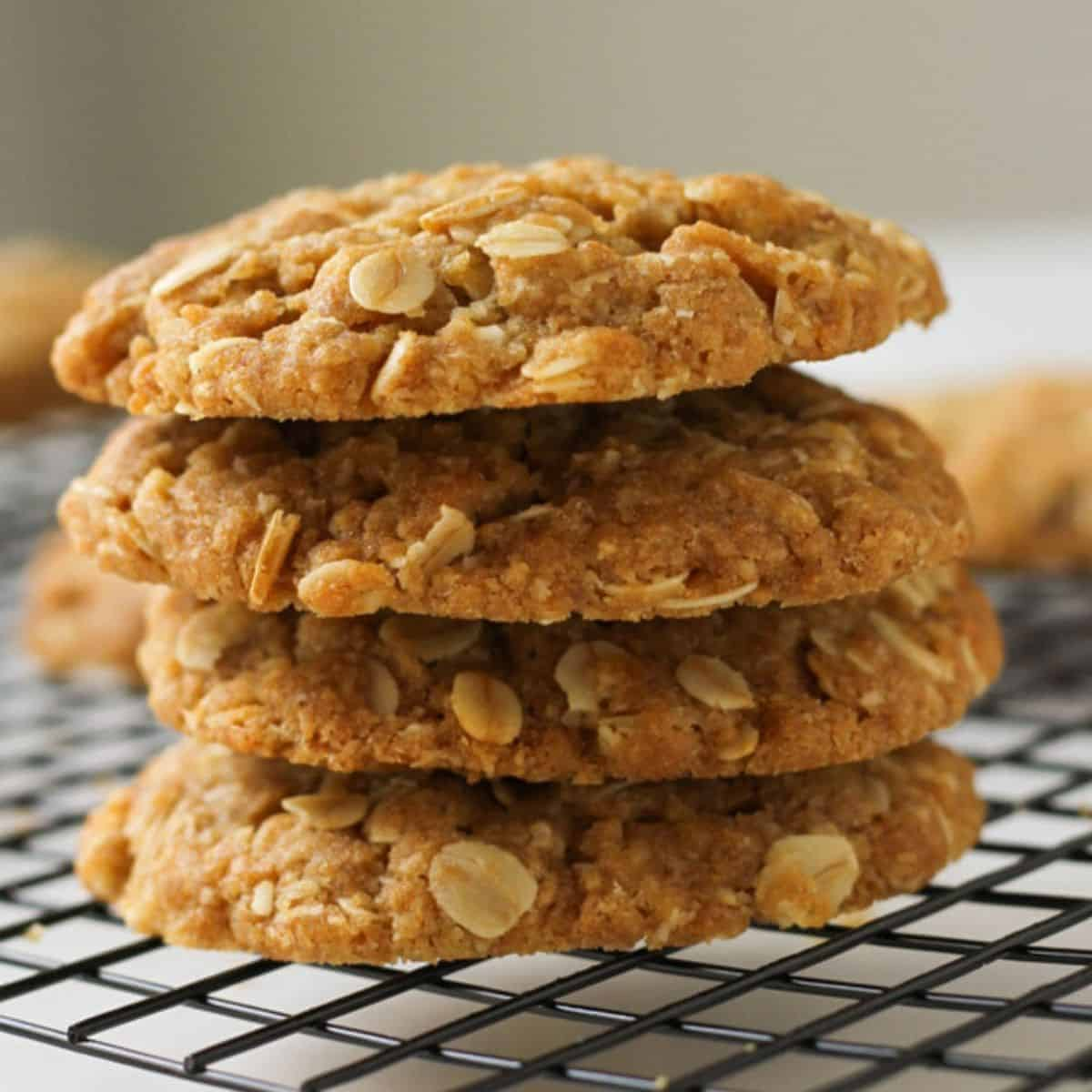 Chewy Anzac Biscuits Oven Or Air Fryer Cook It Real Good