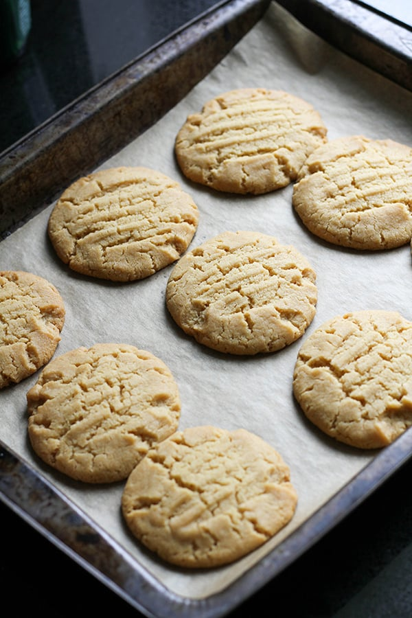 cookies on a baking tray.