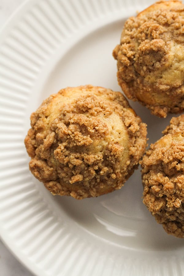 muffins on a white plate.